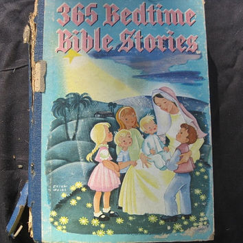 Vintage Mid Century Bible Bedtime Stories for Children