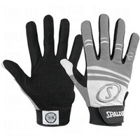 Spalding Pro Series Batting Gloves with 3M Gripping Material (White/Gray - X-Large)