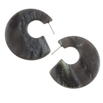 Semi circle acetate fashion earring