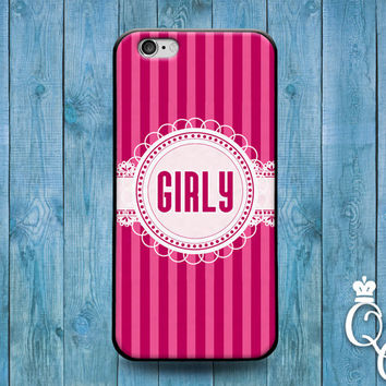iPhone 4 4s 5 5s 5c 6 6s plus iPod Touch 4th 5th 6th Generation Cool Girly Girl Pink Stripes Gift Grad Birthday Christmas Cute Ribbon Case