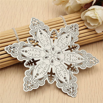 DIY Metal Steel Snowflake Cutting Dies Stencils For Scrapbooking Photo Album Polygon Embossing Decorative Craft