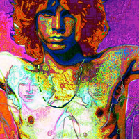 Jim MORRISON of The Doors  Large 20 x 15  Signed and by EisnerArt