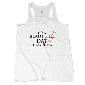 Its a Beautiful Day To Save Lives Tank Top Nurse Tanks For Women