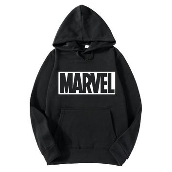 Hot 2018 Autumn And Winter Brand Sweatshirts Suprem Men High Quality MARVEL letter printing fashion mens hoodies S-3XL