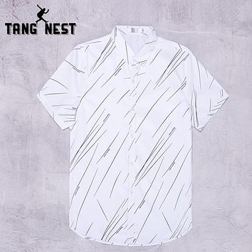 Men Shirts Single Breasted Turn-down Collar MCS695