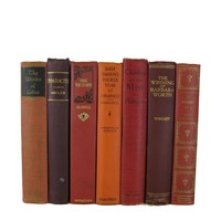 Fall Decor Shades of Decorative Books for Display, S/7