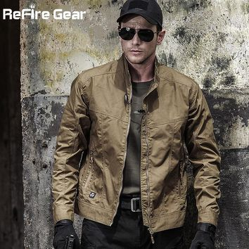 Trendy Autumn Men's Tactical Field Bomber Jacket, Military Clothes Special Forces Army Jackets, Fall Spring Casual Male Slim Pilot Coat AT_94_13