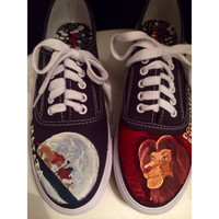 Custom Handpainted Lion King Shoes