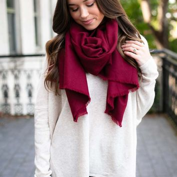 Surround Me Solid Blanket Scarf