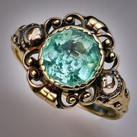 Antique Victorian Aquamarine Ring