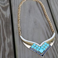 Jewel Affair Necklace {Turquoise}
