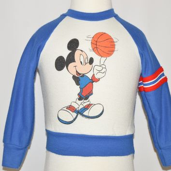 80s Mickey Mouse Basketball Baby Sweatshirt 12-18 Months