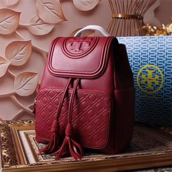 Tb Tory Burch Women's Leather Fi Backpack Bag #46341 - Best Deal Online