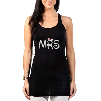 Mr Mrs disney Couple women Womens Tank Top *