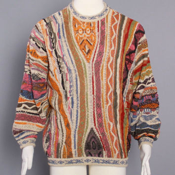 90s COOGI SWEATER Authentic Vintage / Iconic 1990s 3-D Cotton Pullover CREWNECK