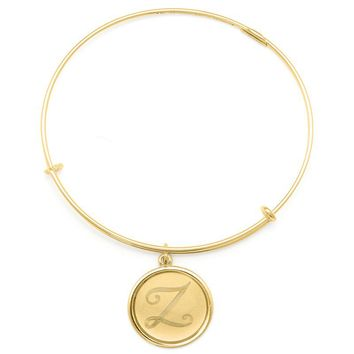 Alex and Ani Precious Initial Z Charm Bangle - 14kt Gold Filled