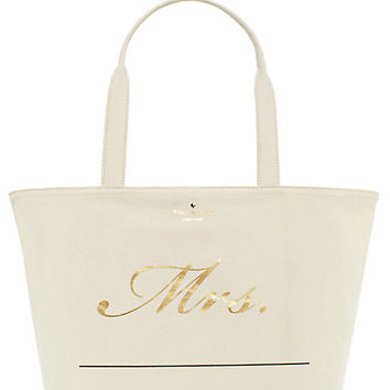 Kate Spade Wedding Belles Customizable Mrs Tote Multi ONE