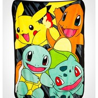 Pokemon Classic Group Fleece Blanket