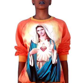 Virgin Mary Mother Jesus Sweatshirt
