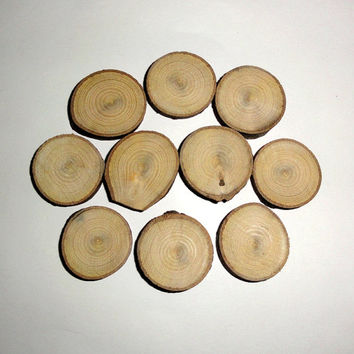 Wooden Discs Tree Rustic Wedding Wood Slices Decor Log Round  - Wood slices set of 10 pieces slice tree discs branches blanks bark logs