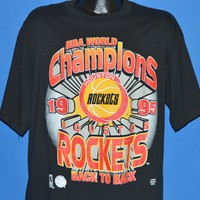 90s Houston Rockets 1995 NBA Champions t-shirt Extra Large