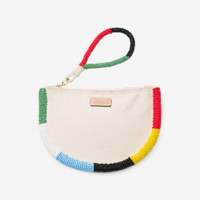 Kate Spade Saturday On Purpose Beaded Canvas Clutch