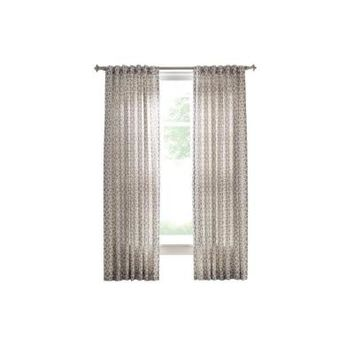 Martha Stewart Living Cement Gray Full Bloom Back Tab Curtain - 54 in. W x 108 in. L-1624946 at The Home Depot