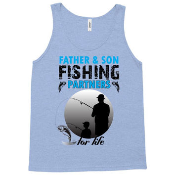 Father And Son Fishing Partners For Life Tank Top