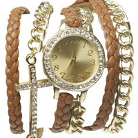 Cross Bling Wrap Watch | Shop Jewelry at Wet Seal