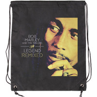 Bob Marley Legend Drawstring Backpack Black