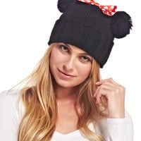 Minnie™ Ears Distressed Knit Beanie | Wet Seal