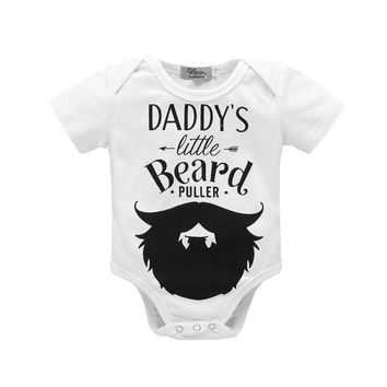 Newborn Baby Clothes Toddler Infants Baby Bodysuit Auntie Uncle White Short Sleeve Tiny Cottons Baby Girl Boys Baby Onesuit