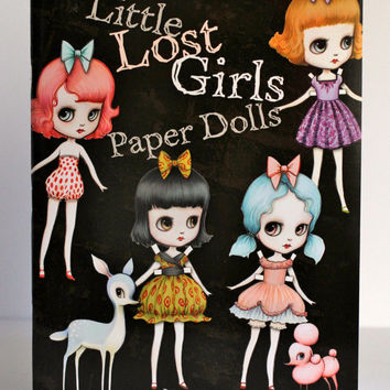 Little Lost Girls Paper Doll Book - Signed - by Mab Graves