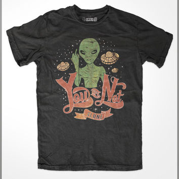 Alien t-shirt | Alien shirt | Alien T Shirt | UFO T Shirt | Area 51 | Alien Abduction | Roswell |  - Not Alone -