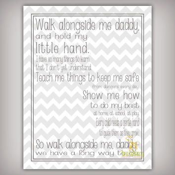 Irresistible image with walk with me daddy poem printable