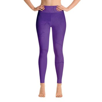 Amethyst Lightning Yoga Leggings