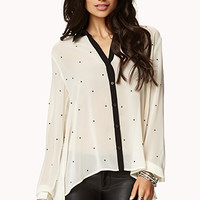 Essential Rhinestoned Chiffon Shirt