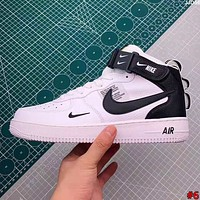 NIKE AIR FORCE street fashion men and women high-top flat shoes #6