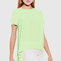 Women's Vince Camuto Short Sleeve Georgette High/Low Blouse,