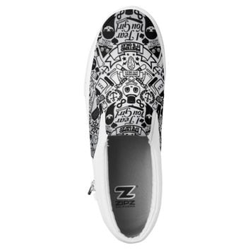 BW Drawing Slip-On Sneakers