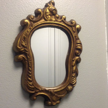 Ornate Provincial oblong mirror