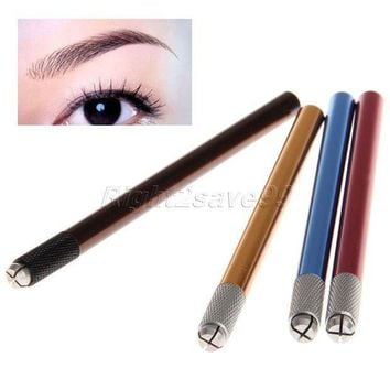 2017 New Arrival Professional Manual Tattoo Permanent Makeup Eyebrow Pen Manual Tattoo Pen Microblading Pen Eyebrow Tattoo Tools