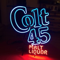 Colt 45 Beer Malt Liquor Vintage 1990S Beer Pub Bar Neon Sign