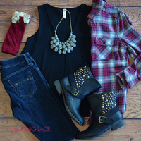 Plaid About You Fashion Outfit