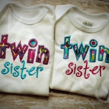 Twin Sister/Brother Shirt Set