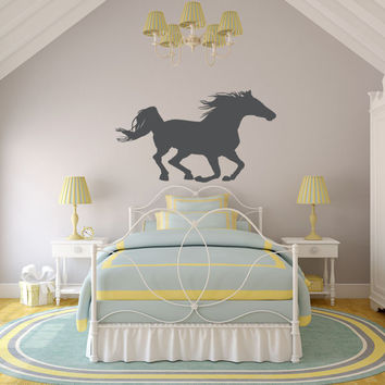 Horse Wall Decal, Horse Wall Art, Horse Decor, Equine Wall Decal, Equine Art, Equine Decor, Equestrian Wall Decal, Equestrian Art
