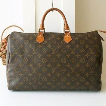 PEAPYD9 Louis Vuitton Bag Monogram Speedy 40 Tote Authentic Vintage Handbag France