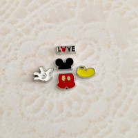 Mickey inspired floating charms for memory lockets