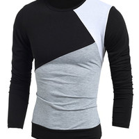 Multicolor Long Sleeves Vogue T-Shirt