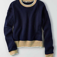 Don't Ask Why Ringer Sweatshirt, Navy